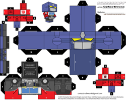 Cubee - Optimus Prime 'Energon' by CyberDrone