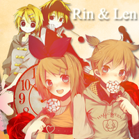 Rin and Len by LittleAiiko