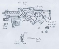 the pulse rifle by rafenrazer
