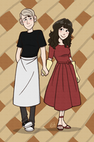 Holding Hands - Pushing Daisies by scribblywobbly