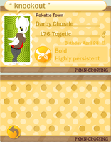 Pokemon Crossing App: Darby Chorale by PandemoniumIllusion