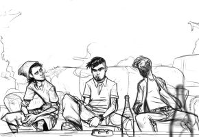 Hipsters Sketch by bloochikin