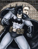 Batman protecting fan by ComfortLove