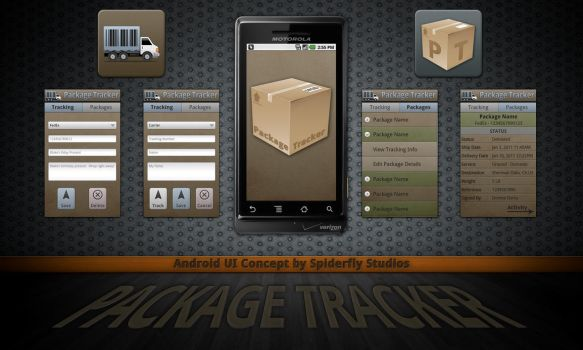 Package Tracker - Android UI by kahil