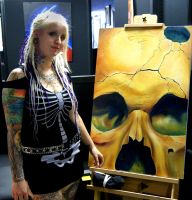 Me and My Painting by TattoosbyMayMay