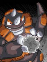 Rhyperior used Rock Wrecker by buizelmaniac