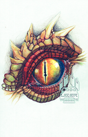 Color Pencil Dragon Eye by Liger-Inuzuka