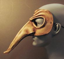 Zanni Leather Mask Side View by TomBanwell