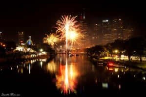 Fireworks over the City by DanielleMiner