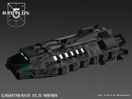BABYLON 5 - EA-SHUTTLE 3D-Mesh by ulimann644