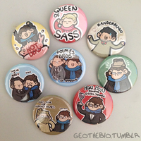 Sherlock Pin Set (Season 3) by geothebio