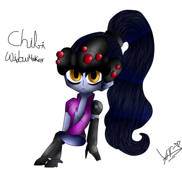 Chibi Widowmaker by Cherlli