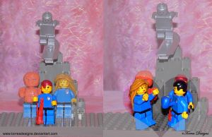 Mr Fantastic Invisible Woman Lego Custom OOAK by TorresDesigns