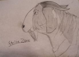 StrikeZone the Boer goat buck by 7MoonWillow