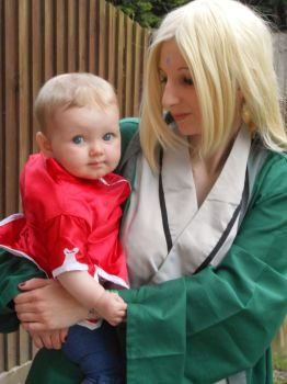 Tsunade and Baby Sakura by AndNowYourDead
