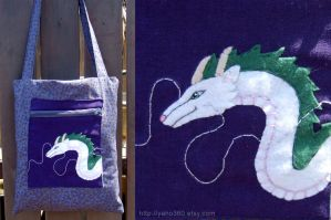 Haku dragon from spirited away by yael360