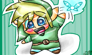 Chibi Link and Navi by Sukoro24