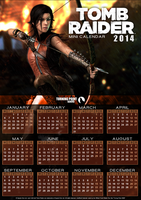 TPW - Unofficial 2014 Calendar - Tomb Raider 2013 by FearEffectInferno