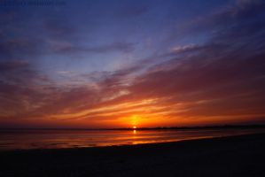 Sunset on the beach by Samantha-meglioli