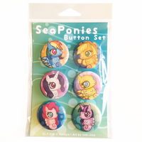 MLP:FiM SeaPonies Button Set by inki-drop