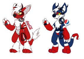 [a] Cola Monster Adopts [BOTH SOLD] by glitchgoat
