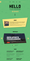 One Page Personal Portfolio Template(PSD) by emrah-demirag