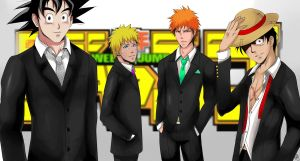 Shounen Jump - Goku, Naruto, Ichigo and Luffy by alisonjohnsonfox