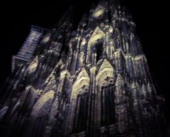 Cologne cathedral at night by evelynsixx