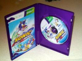 Sonic Free Riders Game and Instrustion Book by DerpyDash64