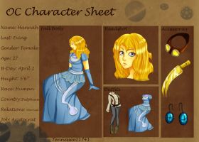 Hannah E. .:Character Sheet:. by Tennessee11741