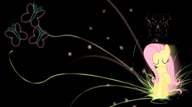 Fluttershy 'Neon Nature Abstract' Wallpaper by BlueDragonHans