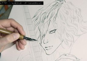 bassist .inking. by khaoskai