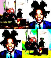 Basquiat with Warhol's style by SKARLET-DESIGNS