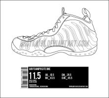Nike Air Foamposite One Template by BBoyKai91