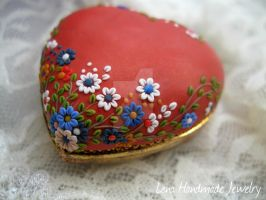 Handmade Polymer Clay Pendant by LenaHandmadeJewelry