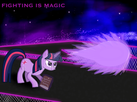 Twilight Sparkle - Fighting is Magic by Daedric-Pony