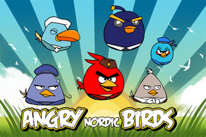 Angry Nordic Birds by mintcandy001