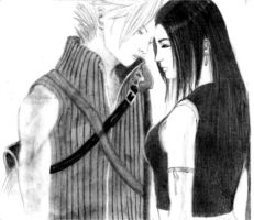 Tifa and Cloud by FaeryCat