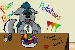 RAINBOW POTATOES!!!! derp by 7MoonWillow