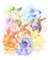 eevee family by Effier-sxy