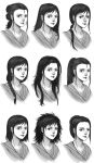 hairstyles of Rey by gin-1994