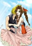 Aeris x Cloud - KH-2 style by Autumn-Sacura