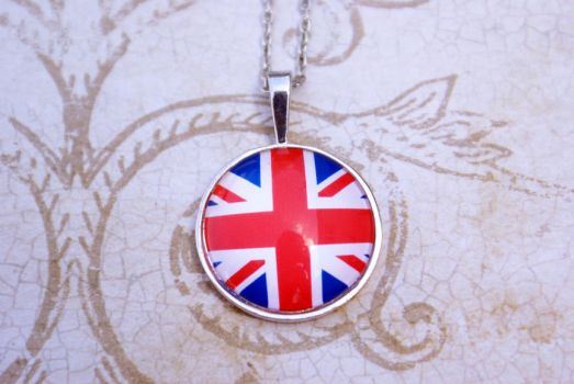 British Flag Necklace by MonsterBrandCrafts