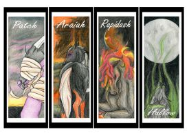 Character bookmarks by JetHero13