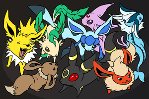 The Eevee Family by Zerochan923600