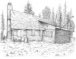 My cabin in the north woods by BROKENHILL