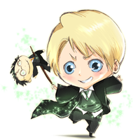 colour commission:Draco Malfoy by GaaraJamiE88