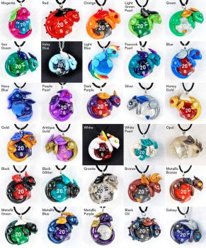 Colorful Dragon Pendants by HowManyDragons