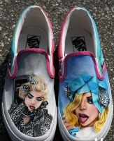 Custom Lady Gaga Telephone Shoes Slip-on Painted by ajdv