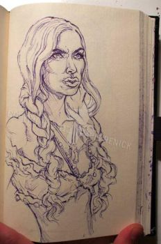 Sketch Bk. Gypsy Woman by Trashe-Trav
